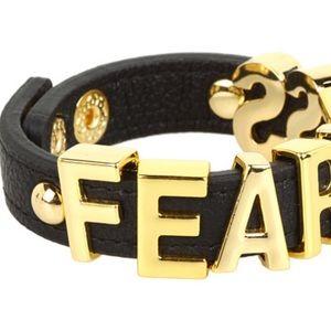 BCBG Fearless Affirmation Letter Bracelet